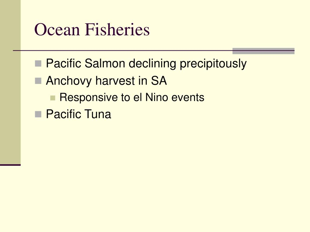 Ocean Fisheries