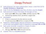 snoopy protocol