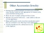 other accessories jewelry