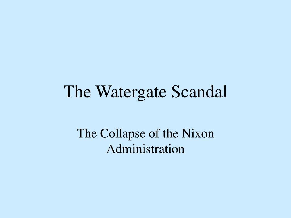 the watergate scandal l.