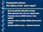 prepayment meters the fallacy of the price signal