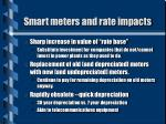 smart meters and rate impacts