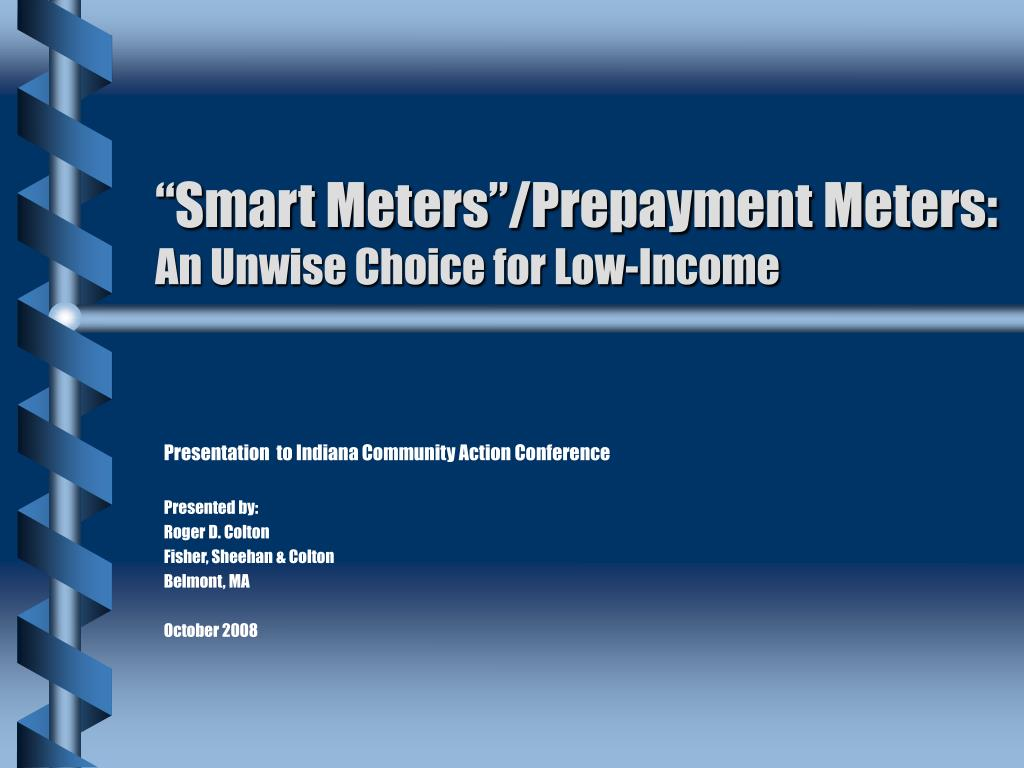 smart meters prepayment meters an unwise choice for low income l.