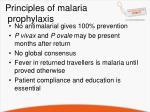 principles of malaria prophylaxis