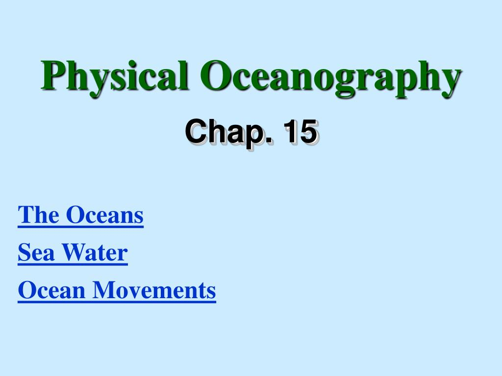 physical oceanography l.