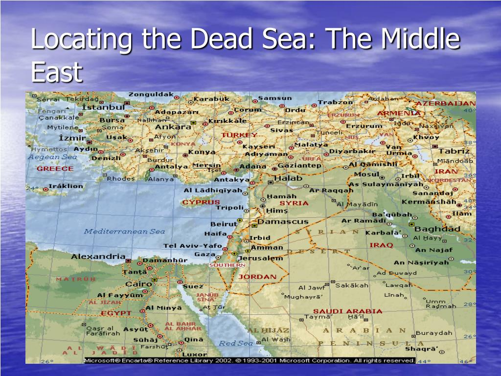 Locating the Dead Sea: The Middle East