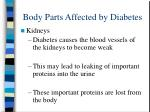 body parts affected by diabetes12