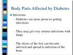 body parts affected by diabetes17