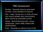 rbc assessment