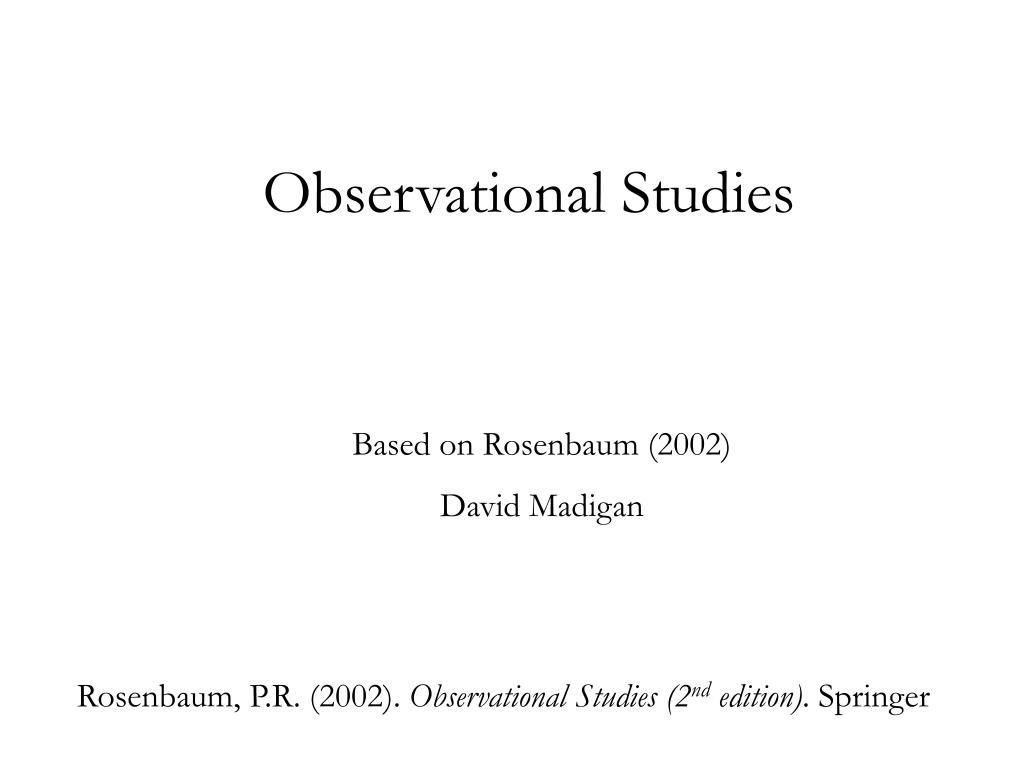 observational studies l.