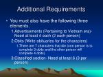 additional requirements5