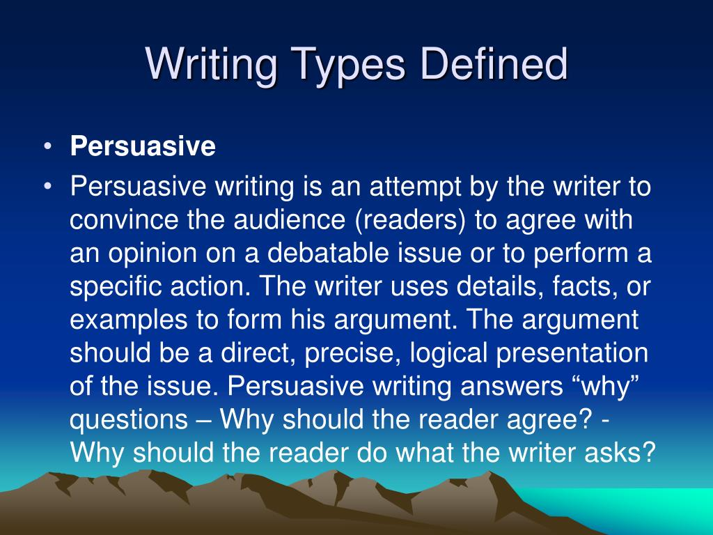 define persuasive writing