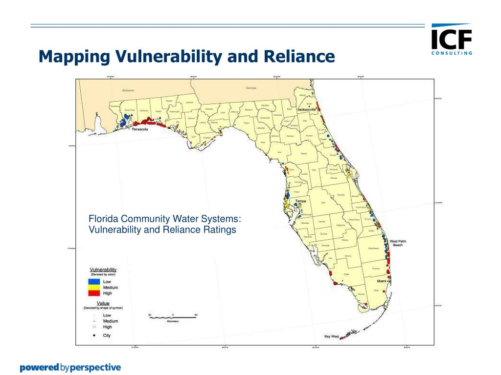 Florida Community Water Systems: Vulnerability and Reliance Ratings