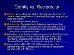 comity vs reciprocity