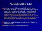ncees model law