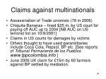 claims against multinationals