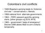 colombia s civil conflicts