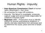 human rights impunity