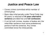 justice and peace law