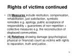 rights of victims continued
