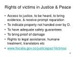 rights of victims in justice peace
