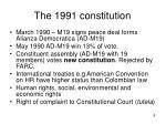 the 1991 constitution
