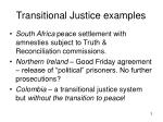 transitional justice examples