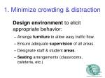 1 minimize crowding distraction