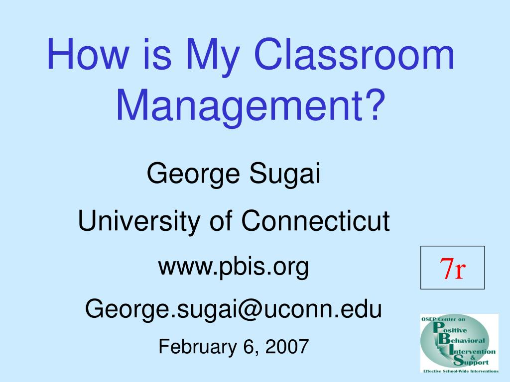 how is my classroom management l.