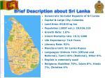 brief description about sri lanka