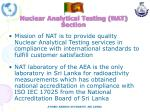 nuclear analytical testing nat section