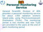 personal monitoring service