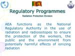 regulatory programmes radiation protection division