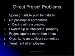 direct project problems