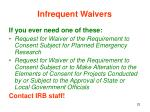 infrequent waivers