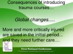 consequences of introducing trauma courses