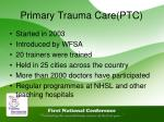 primary trauma care ptc