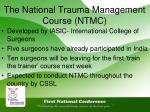 the national trauma management course ntmc