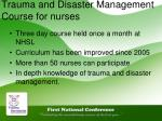 trauma and disaster management course for nurses