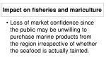 impact on fisheries and mariculture33