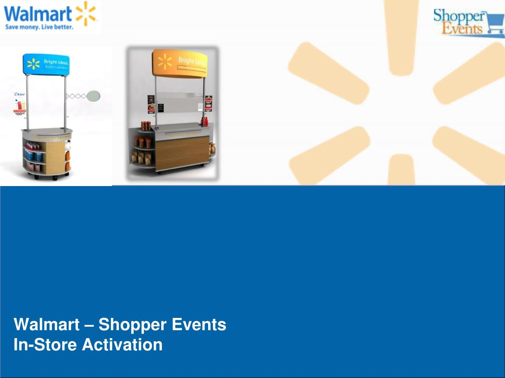 walmart shopper events in store activation l.