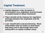 capital treatment