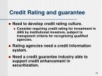 credit rating and guarantee