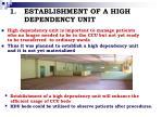 establishment of a high dependency unit