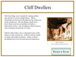cliff dwellers