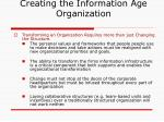 creating the information age organization12