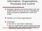 information organizations processes and control