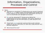 information organizations processes and control7