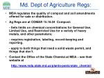 md dept of agriculture regs
