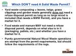 which don t need a solid waste permit